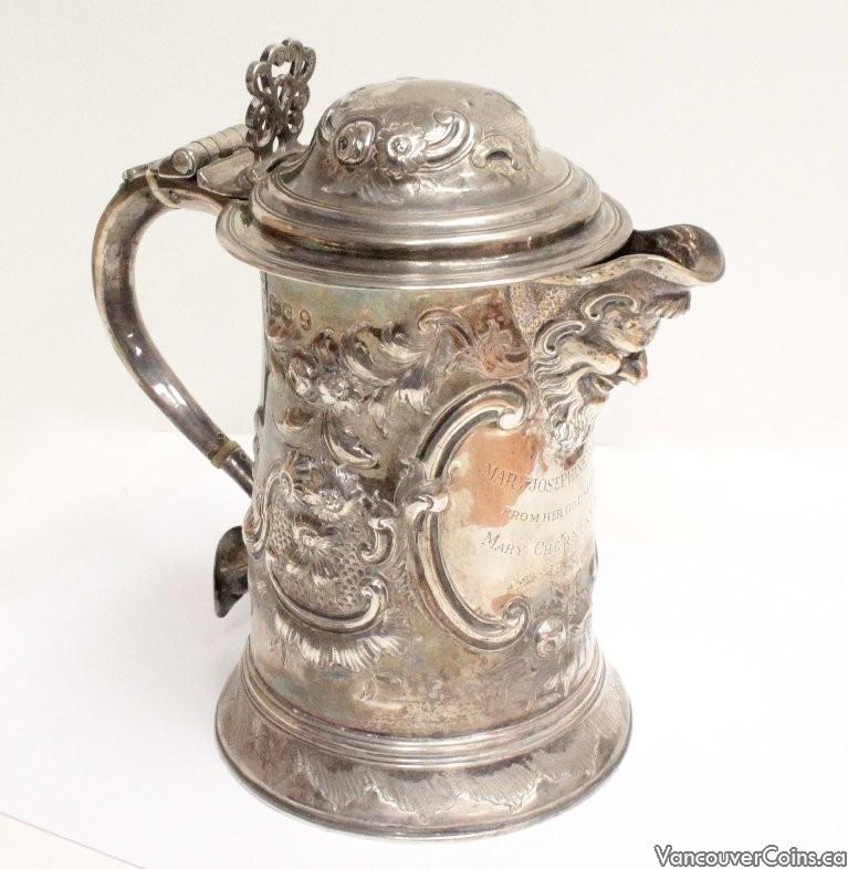 1798 Sterling Silver Tankard HM Stephen Adams London