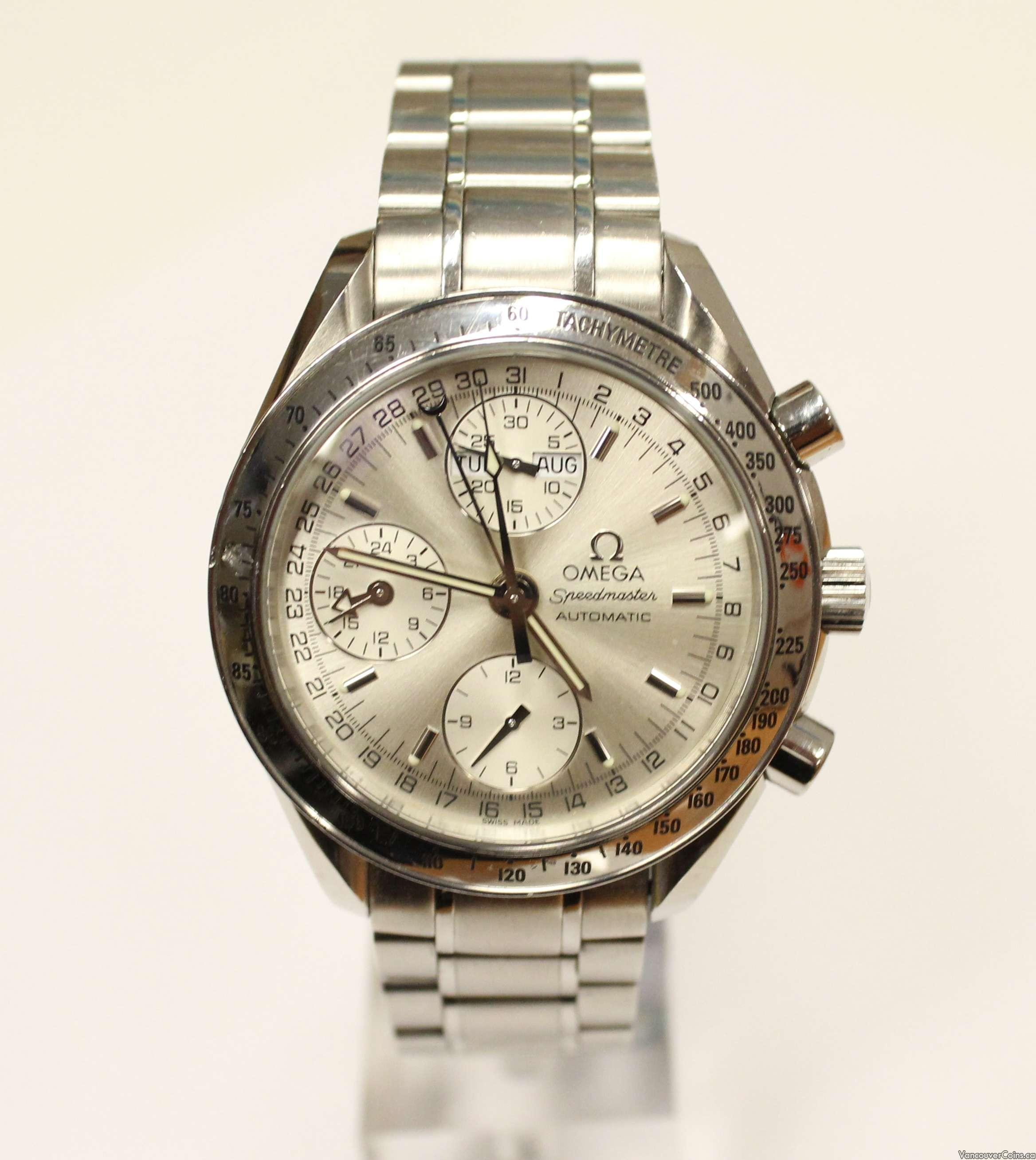 C 2001 Omega Speedmaster Chronograph Watch Triple Calendar