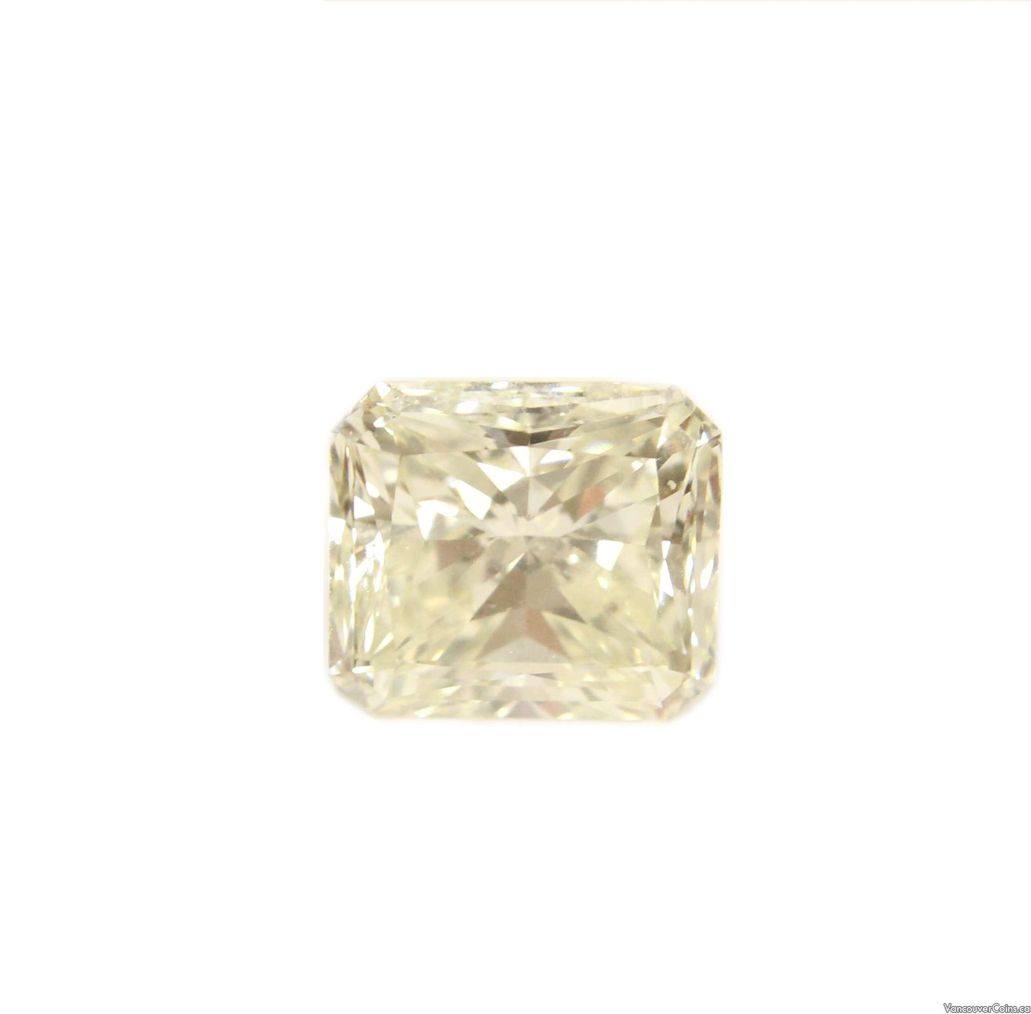 9.07 carat L VS2 Radiant cut Diamond natural untreated & Rare