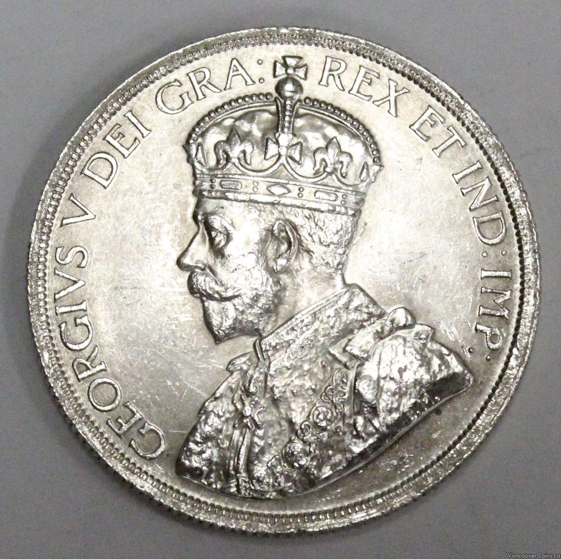 1936 Canada silver dollar King George VI  MS63