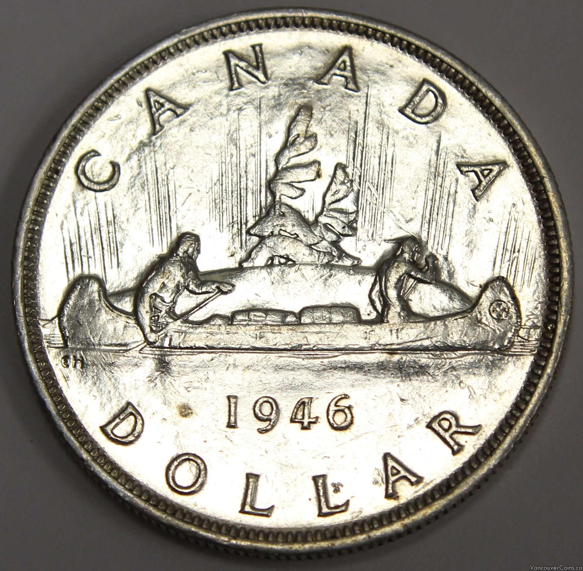 1946 Canada silver dollar EF45