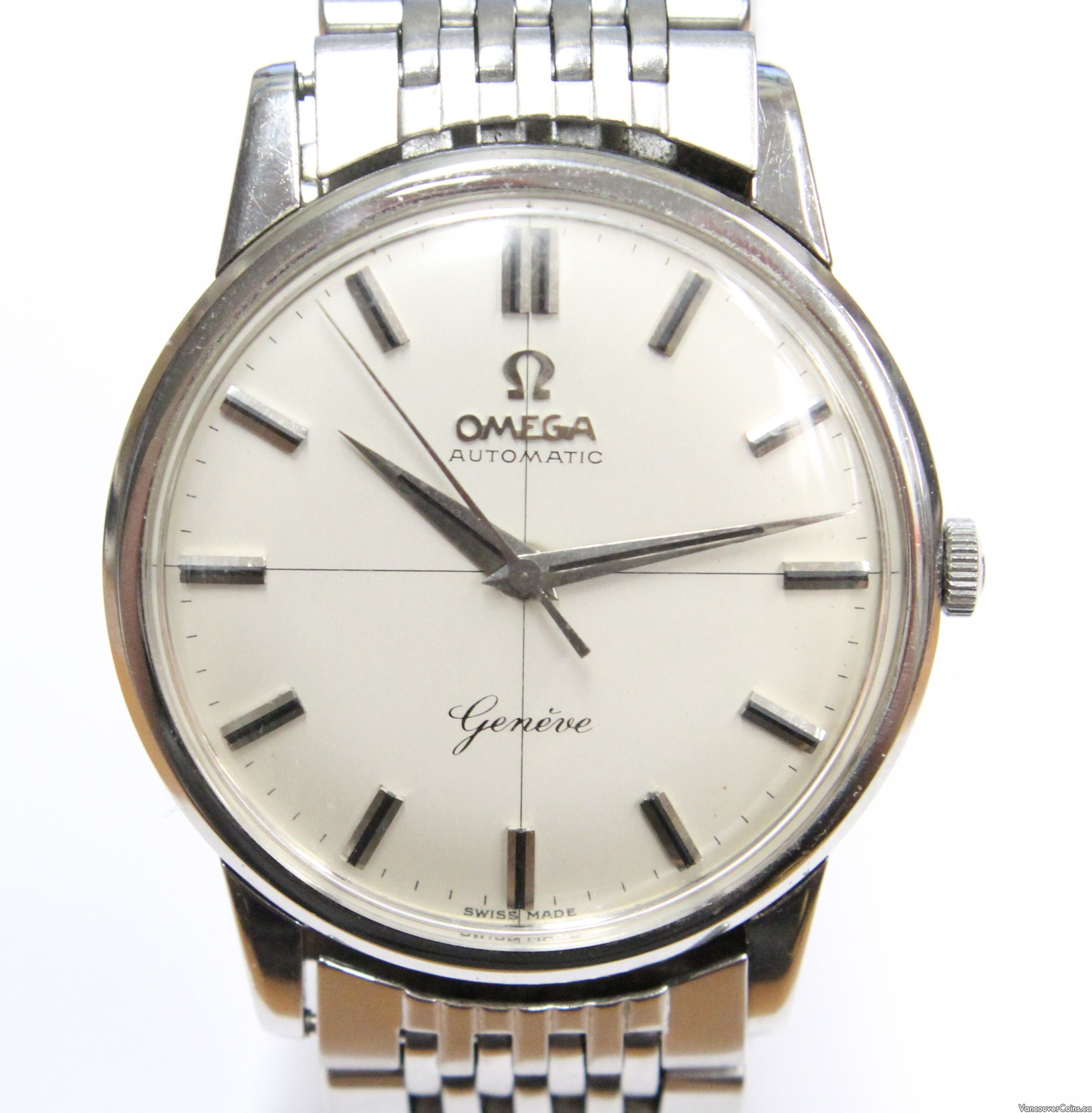 1960 Omega Automatic Geneve 552 24J watch & Omega 1037