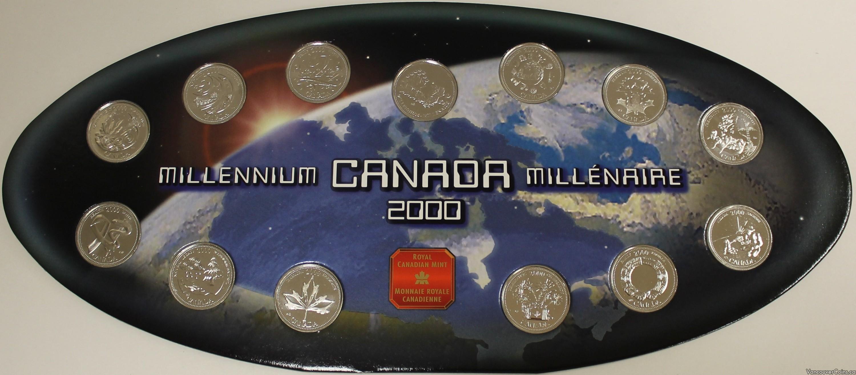 1999 Canada 25 Cent Millennium 13 Coin Quarter Set