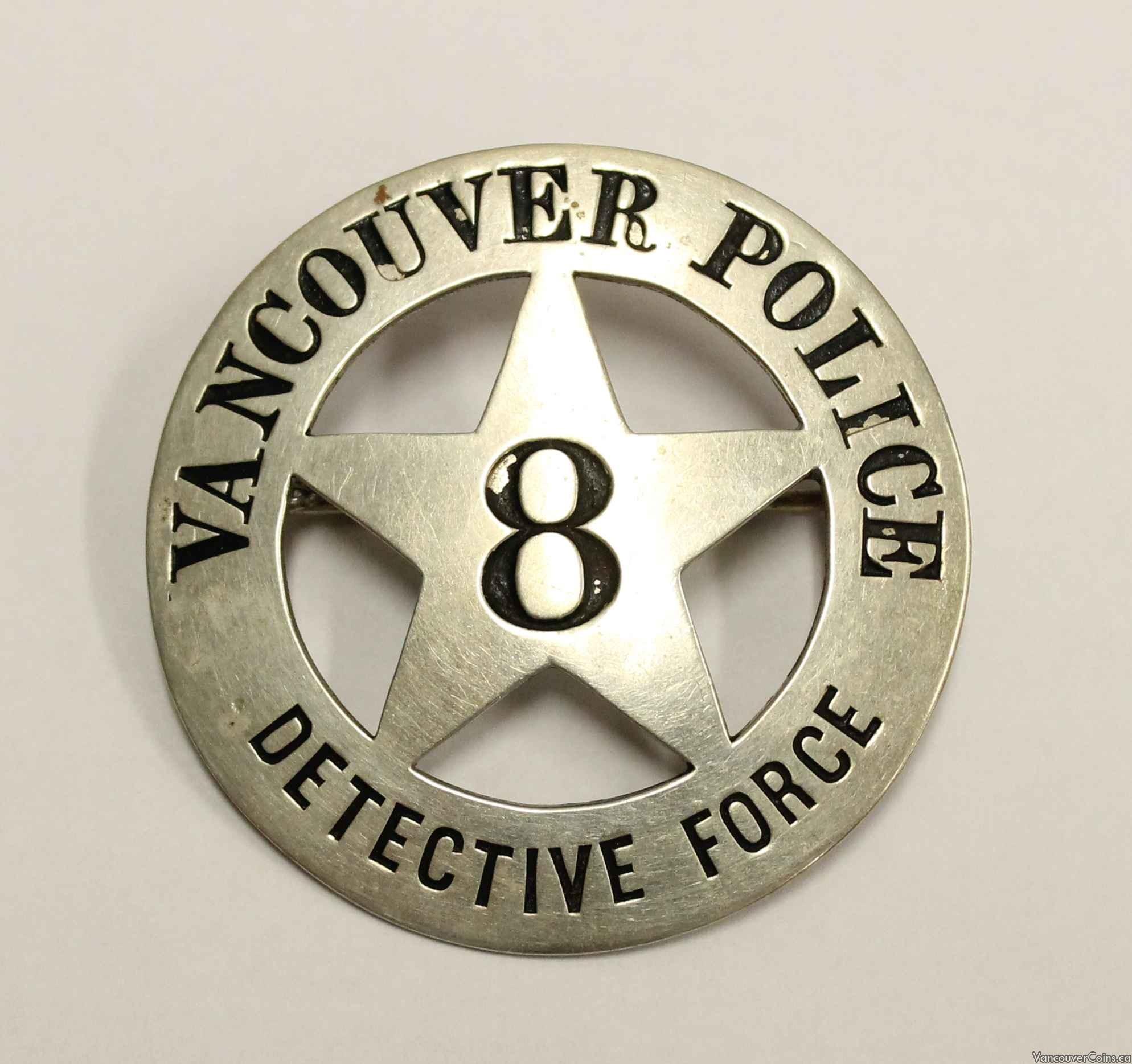 Vintage Vancouver Police Detective Badge Authentic Original Accessories Vpd 3