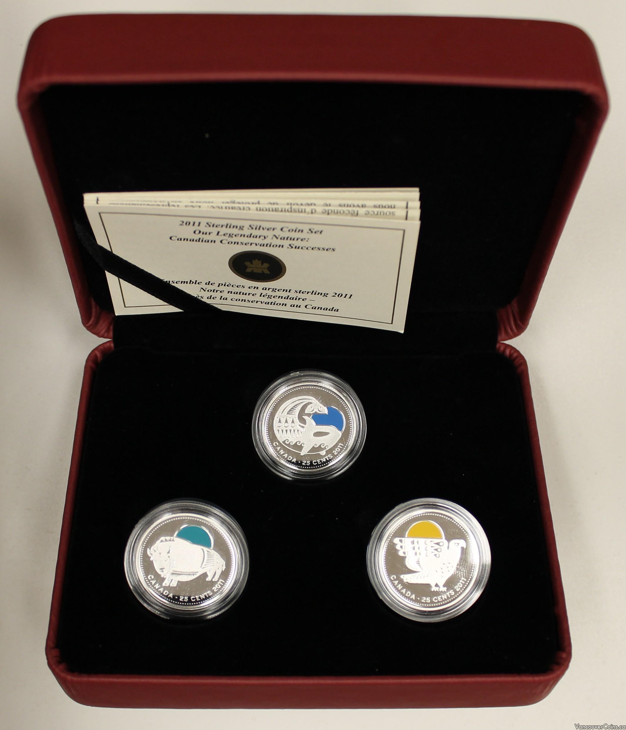 2011 Canada Sterling Silver Quarter Set Our Legendary Nature