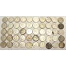 1940 to 1947ML Canada 10 Cents 50-coins
