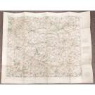 Lens France WW1 linen Ordnance Survey 1916 colour map