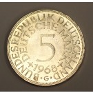 1968 G Germany 5 Deutsche Mark