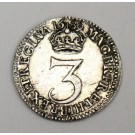 1689 three pence Great Britain 3d EF45