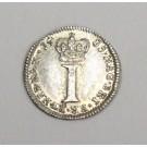 1735 silver pence 1d Great Britain AU50+