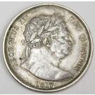 1817 half crown Britain George III VF30