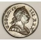1772 Great Britain half penny AU50