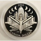 2000 Canada Voyage of Discovery Proof Silver Dollar