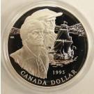 1995 Canada 325th Anniversary Hudson Proof Silver Dollar