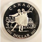 2001 Canada 50th Ballet Anniversary Proof Silver Dollar
