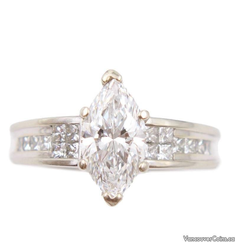 1.81ct IF E colour Marquis Diamond ring Size-9.5 GIA & appraisal $48,000.