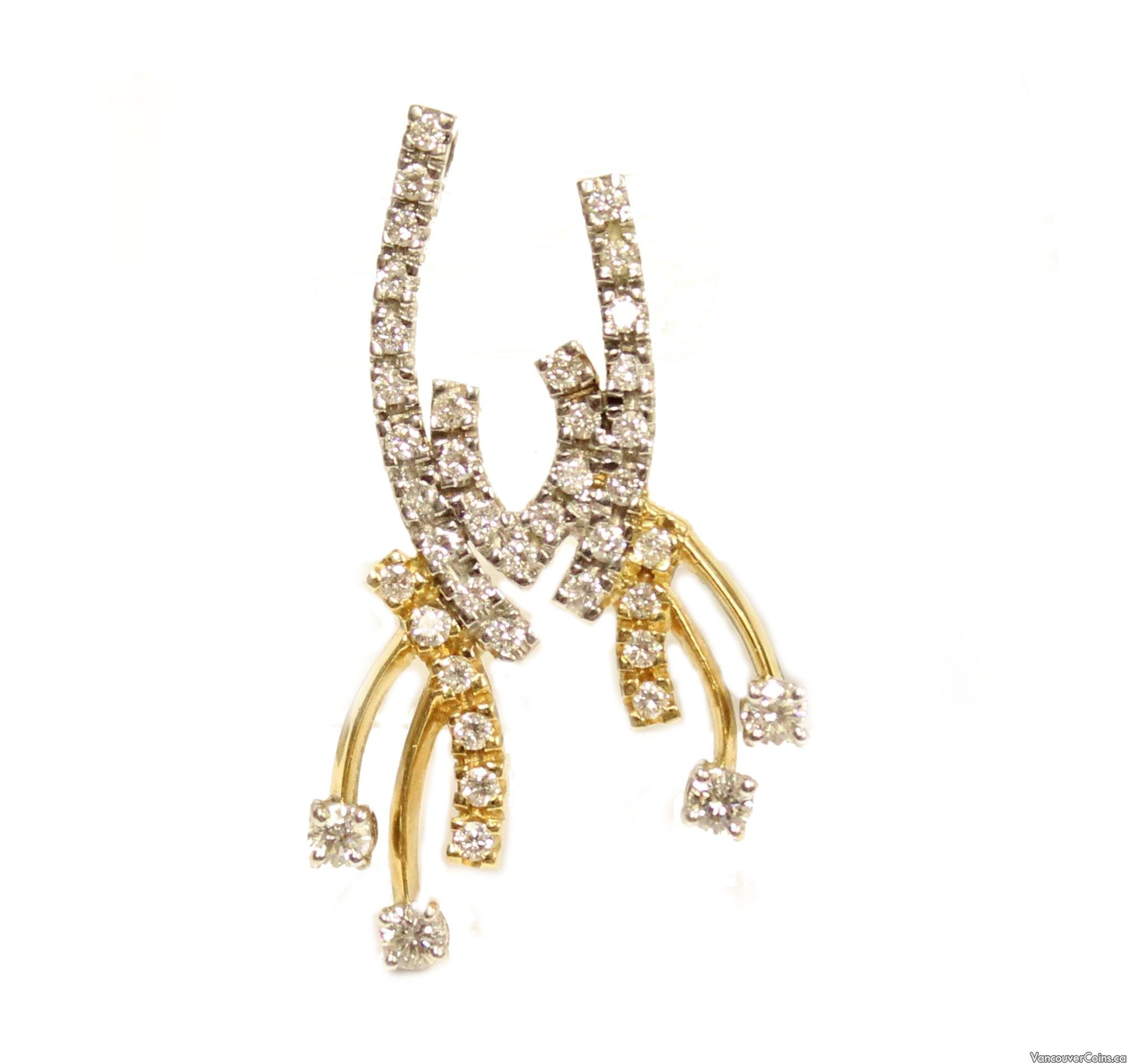 1.06ct tcw diamond pendant 18k yg & wg 45-diamonds