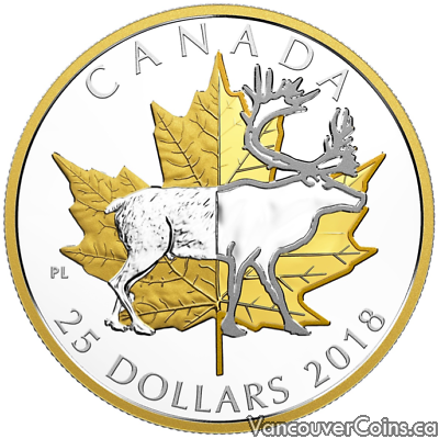 2018 $25 Piedfort Caribou 1oz 9999 Silver Proof Coin