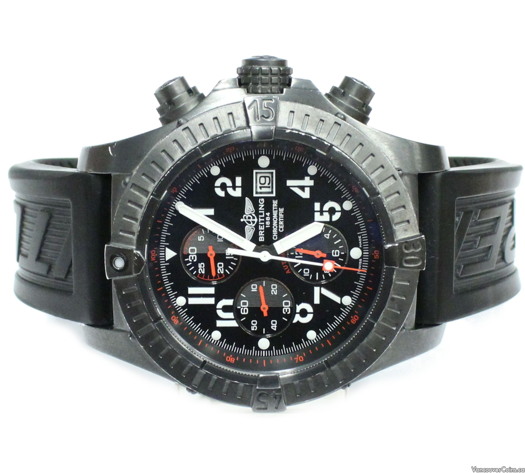 Breitling Super Avenger Blacksteel Mens Watch Limited Edition