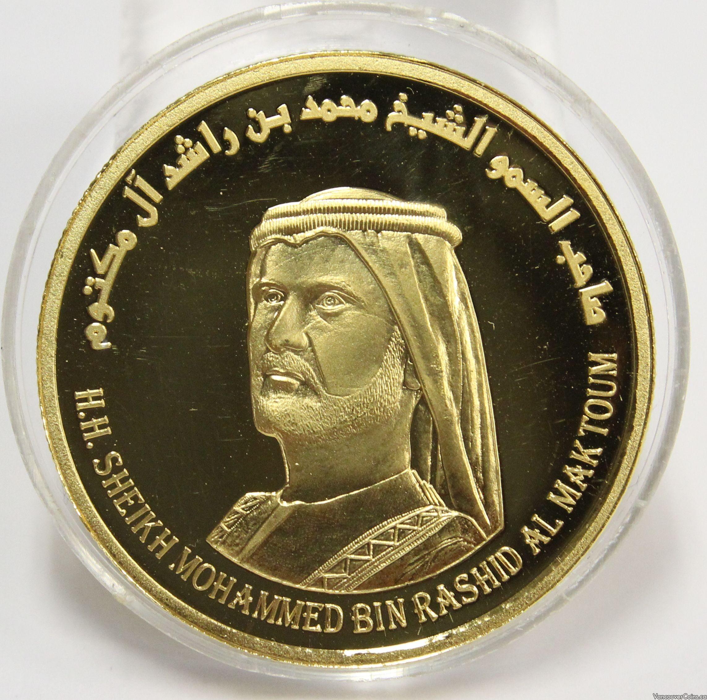 2009 Dubai 1 ounce 9999 gold coin Sheikh Mohammed bin Rashid Al Maktoum