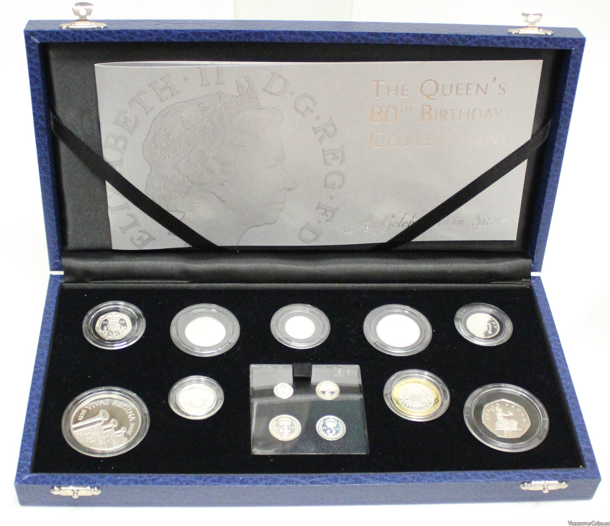 2006 Great Britain 13-silver coin proof set Maundy to £5