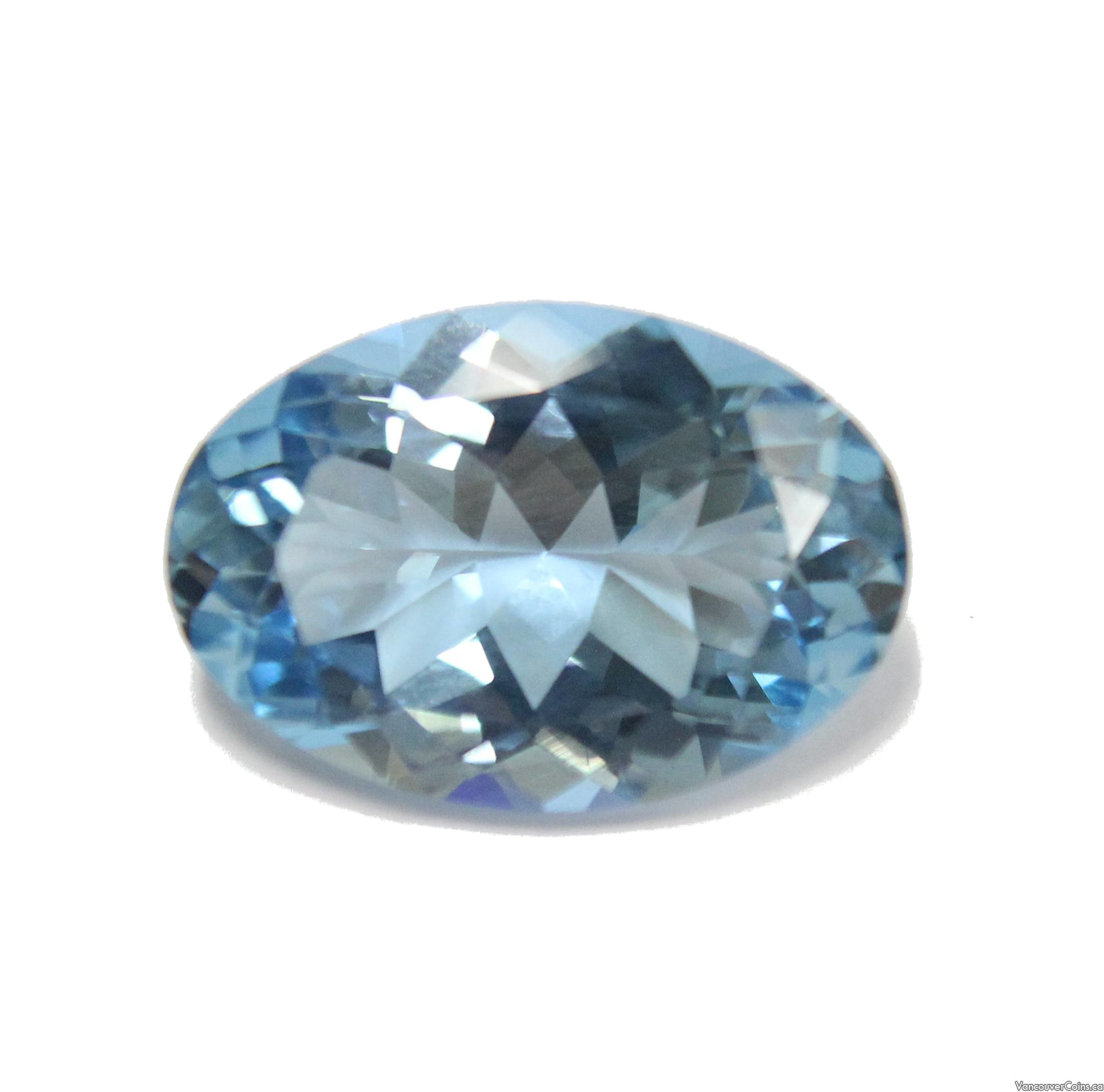 10.31 ct Blue Aquamarine oval natural gemstone with Gem Lab aappraisal $7,300