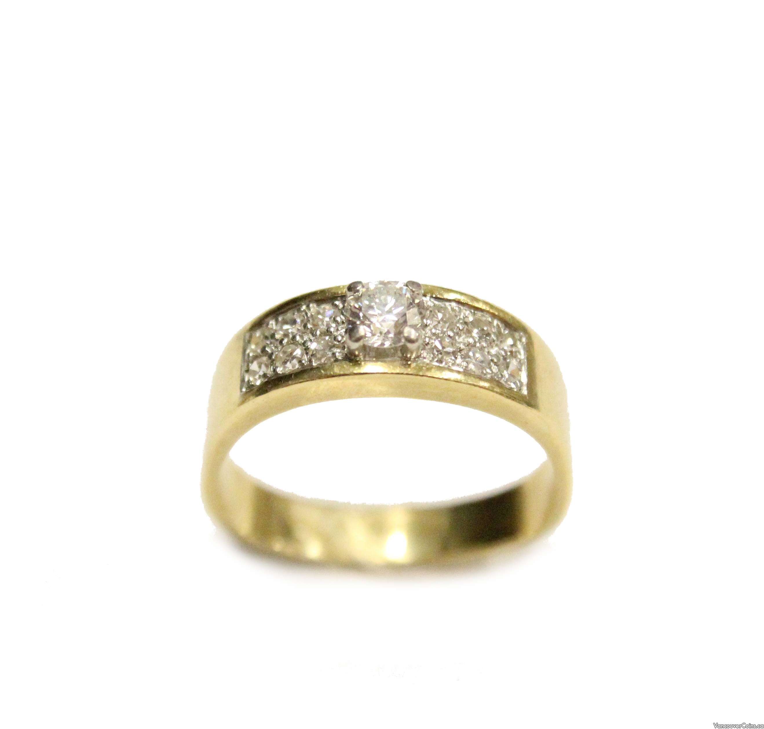 CAVELTI 18K gold and platinum 0.76ct tcw Diamond ring
