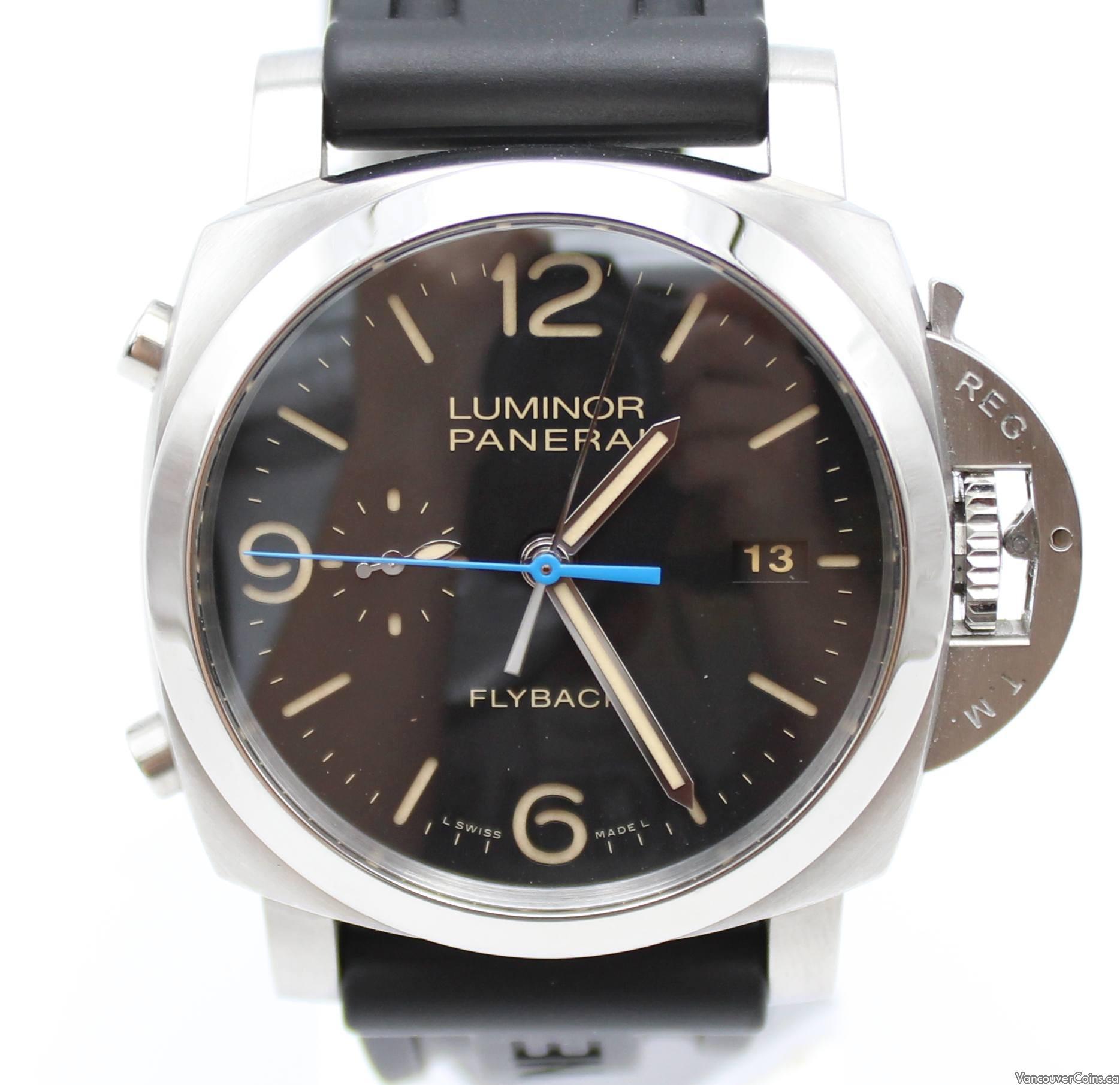 Panerai Luminor 1950 Flyback 3 Days Chrono Automatic Watch 44MM