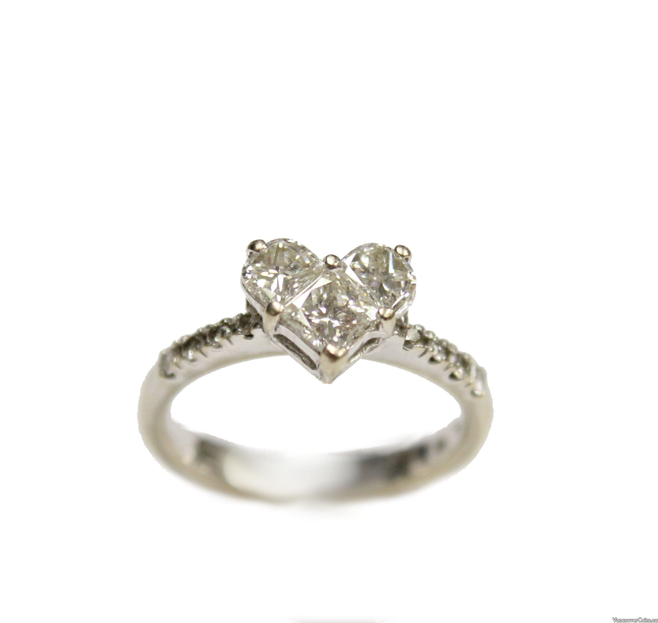 0.92ct Princess & Demi Luna cut Diamonds Ring