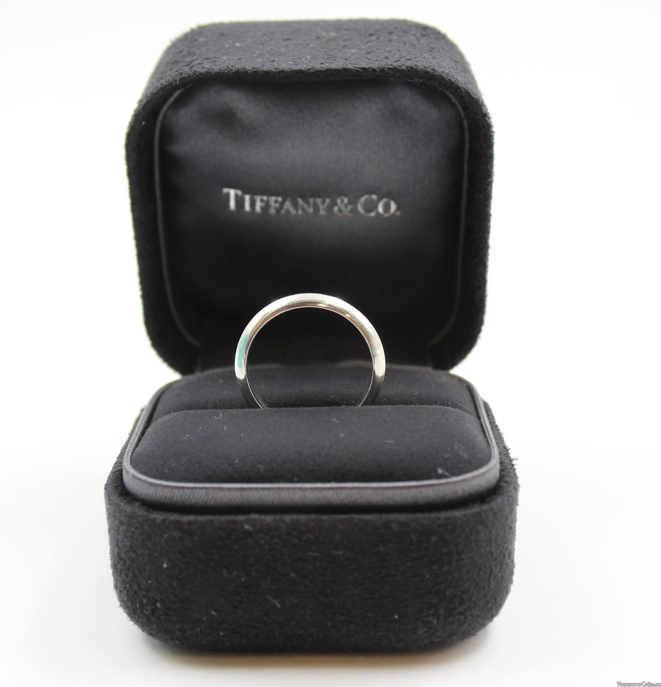 Tiffany & Co PT950 platinum ring band