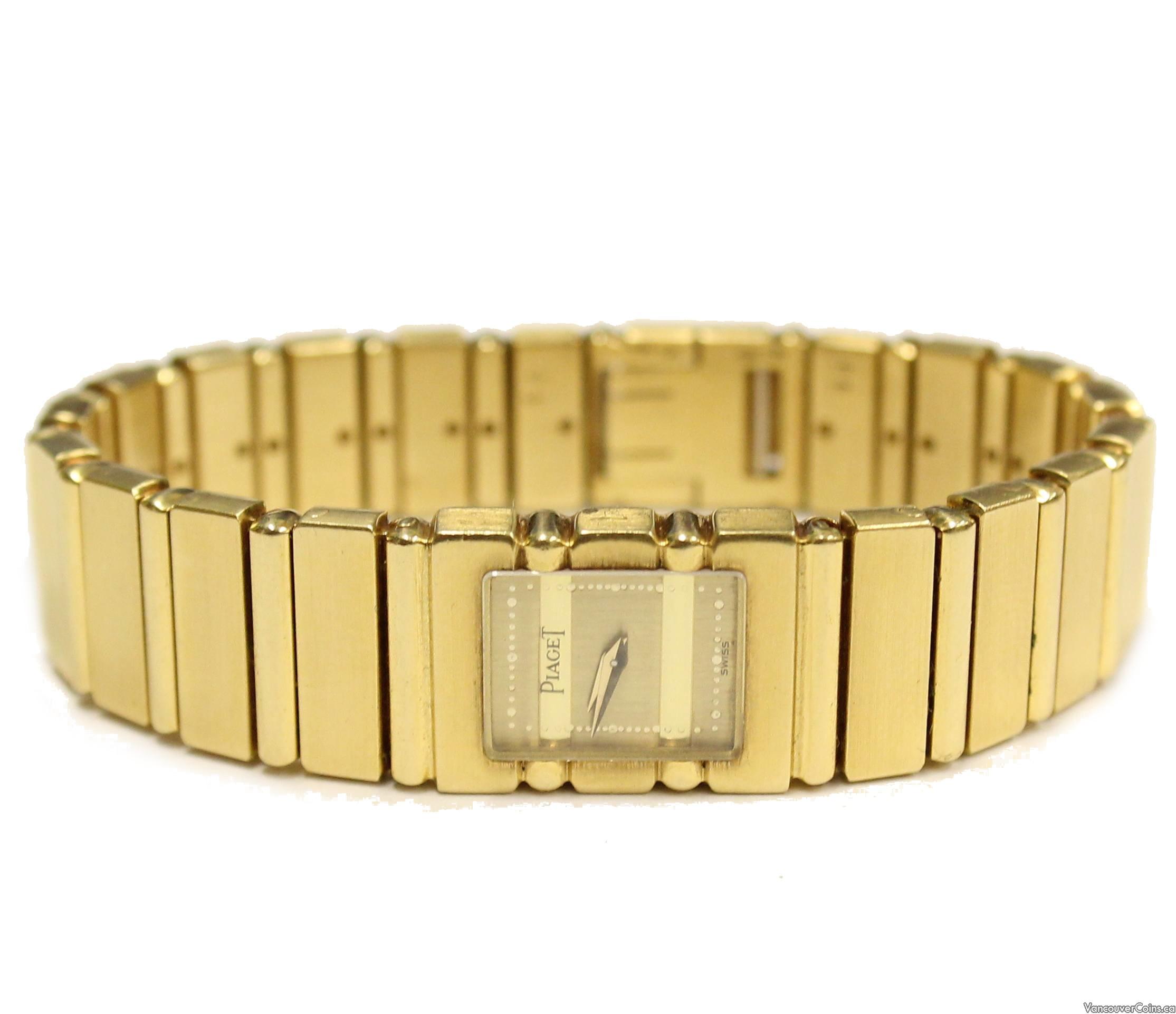 Piaget 18k Solid Gold Polo Ladies Quartz Swiss Watch