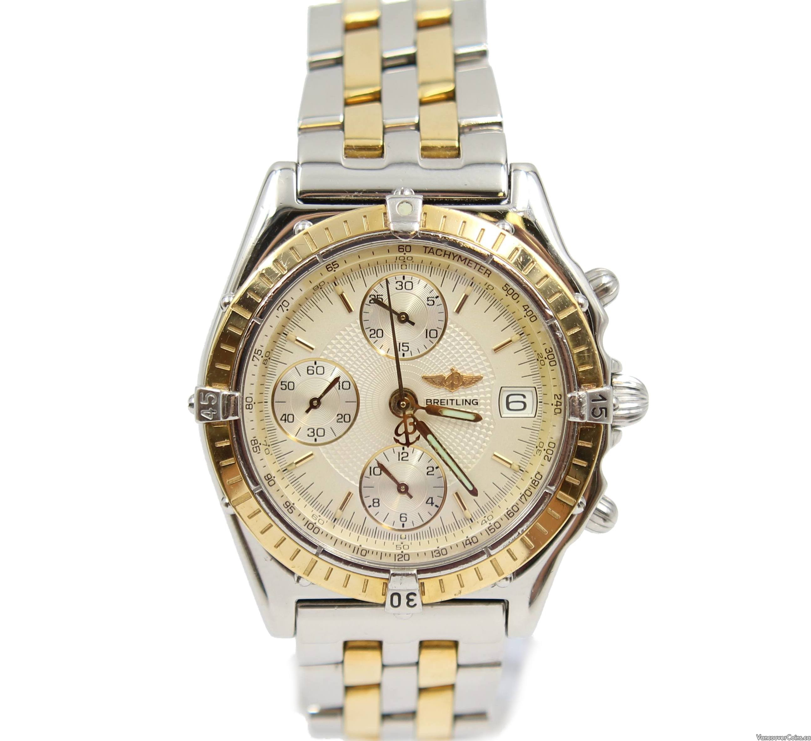 Breitling Chronomat 18K Gold & Stainless 39mm Mens Automatic Watch