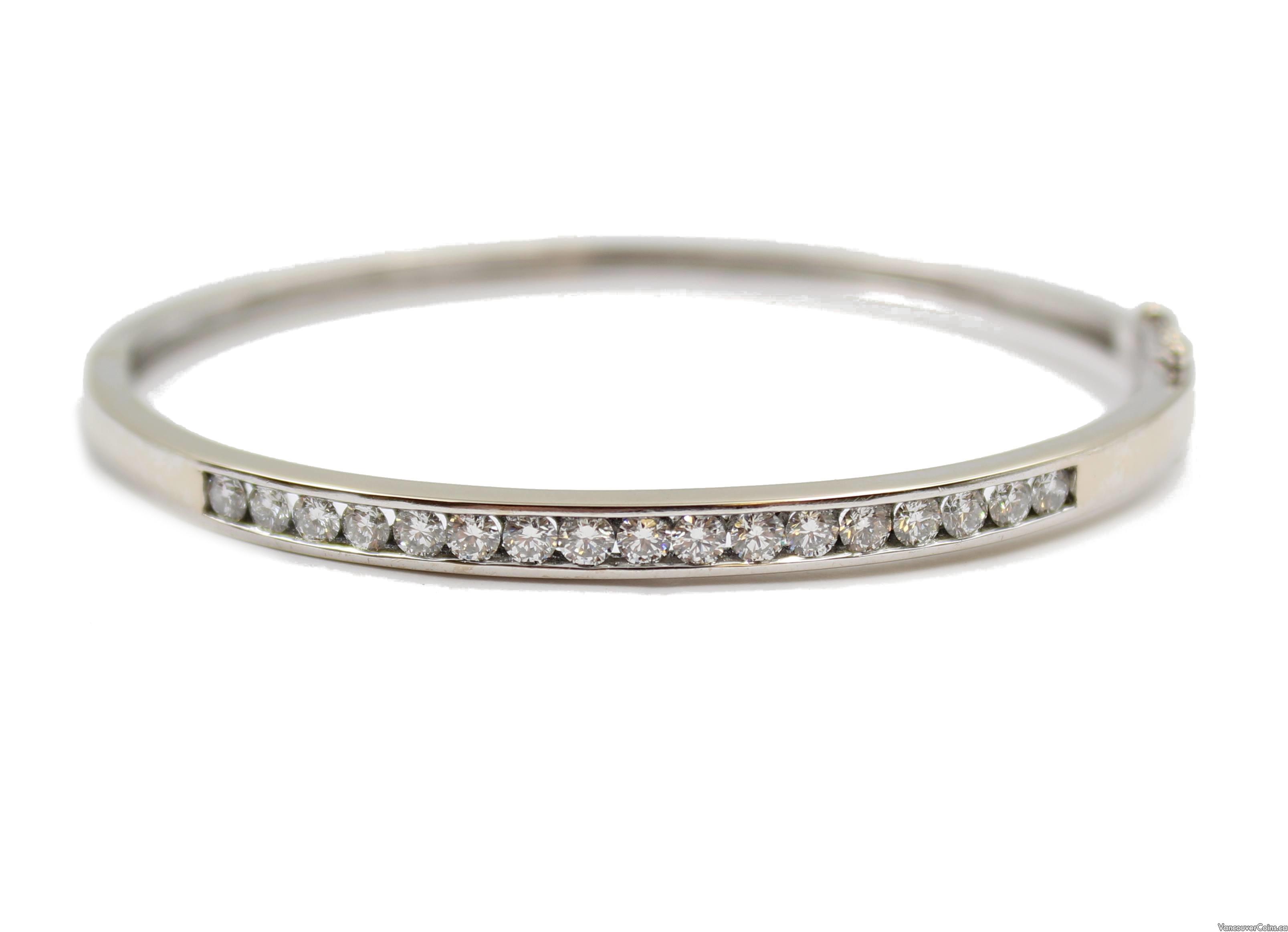 18 Karat white gold 1.50 Carat Diamond Tennis Bracelet