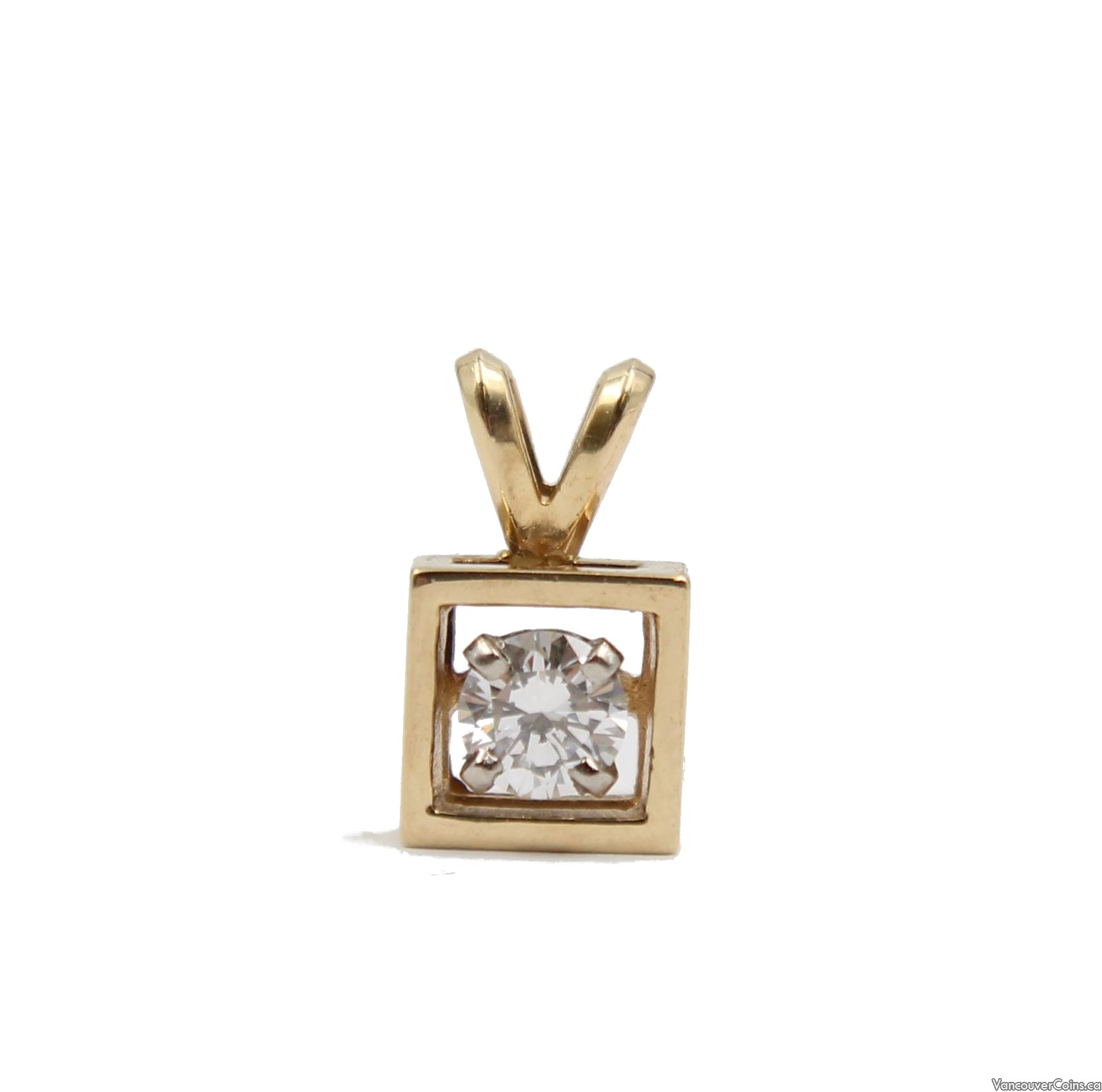 10 Karat Yellow Gold 0.30 Carat Diamond Pendant