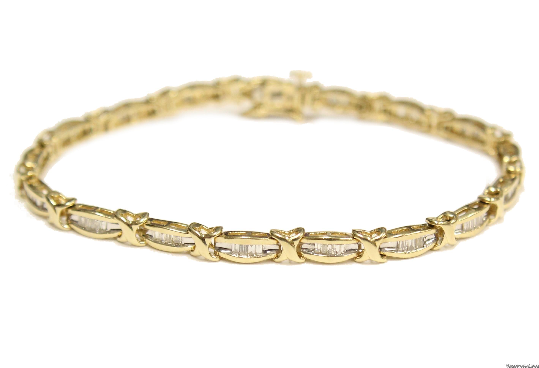 14 Karat white gold 1.50 Carat Diamond Tennis Bracelet