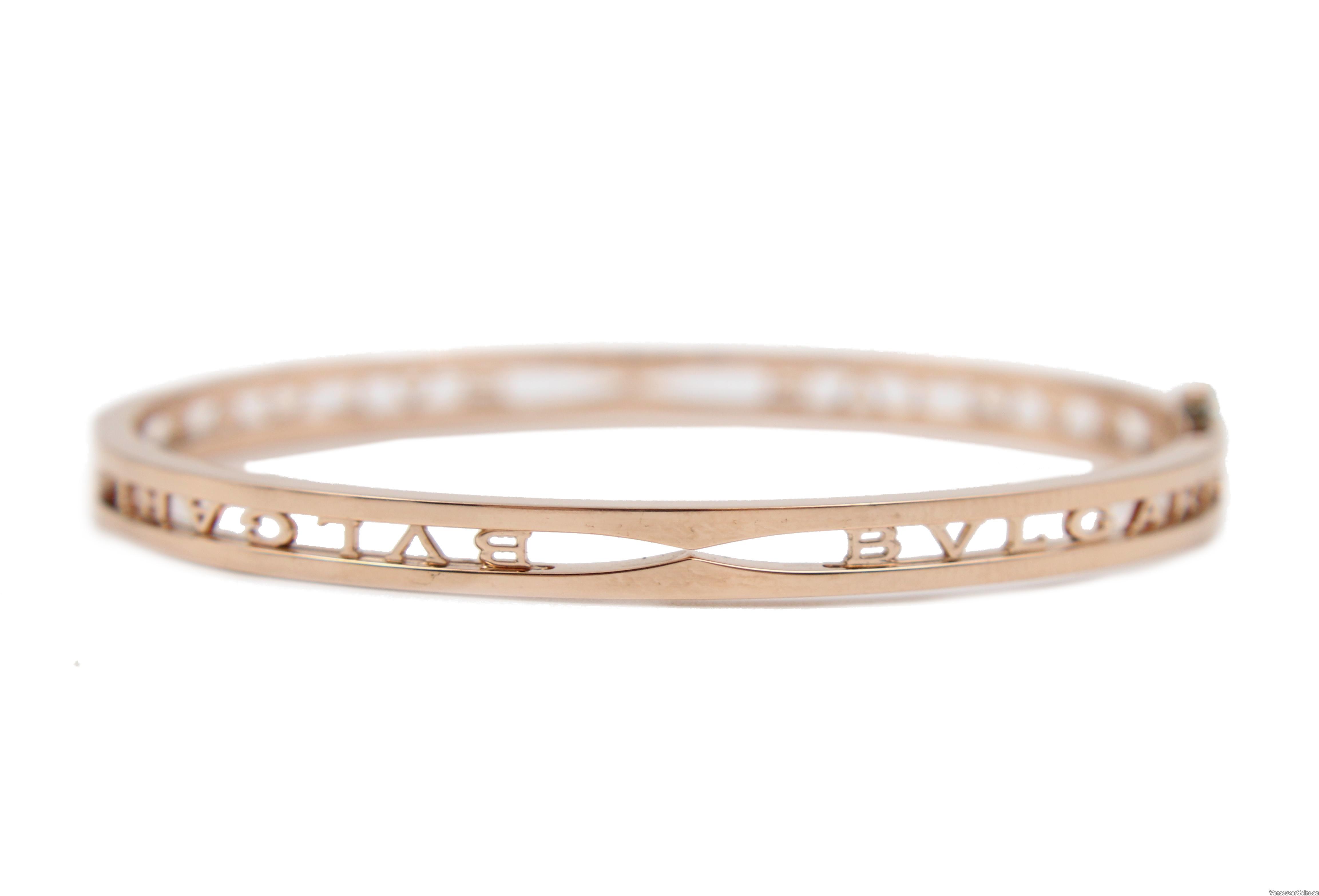 BVLGARI B.ZERO1 18K Rose Gold Bangle Bracelet
