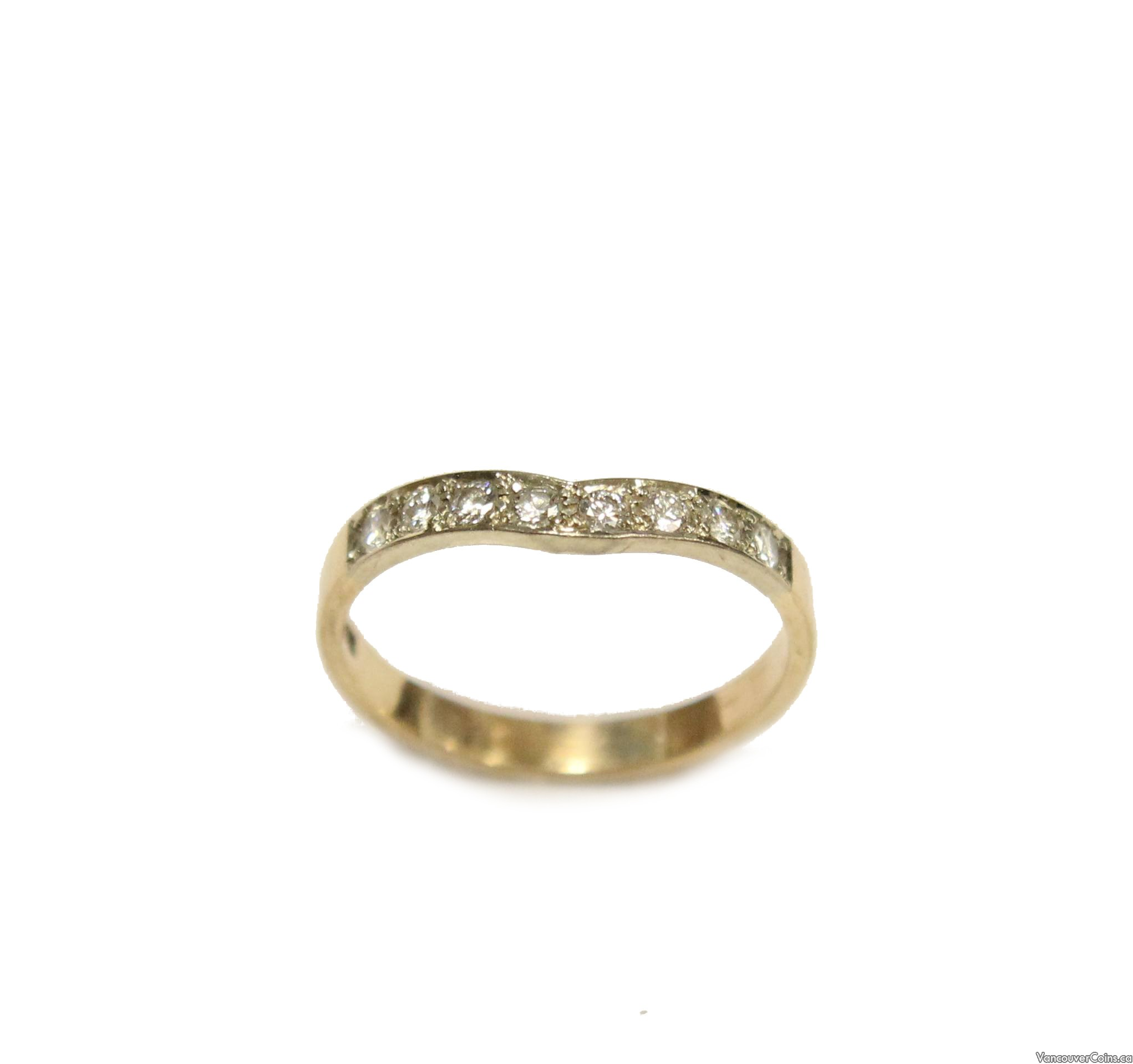 14K yellow & white Gold VS2 .24 ct Diamond Ring