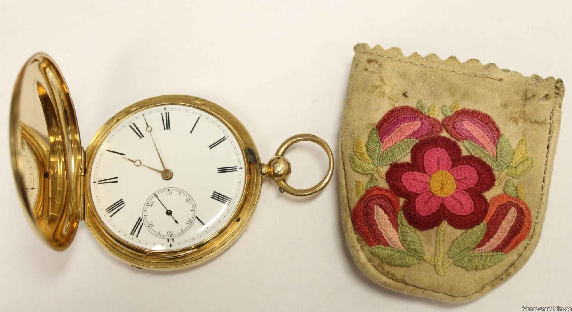 Important 18K Solid Gold Pocket Watch Metis pouch C:1875 J.Bartleman HBC