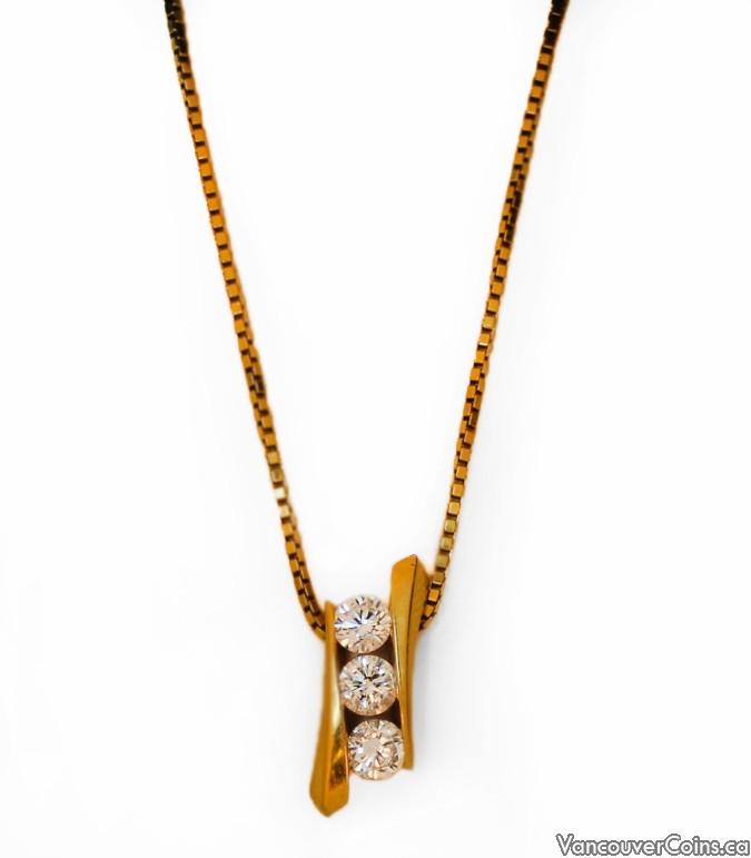 14k Gold 1.0 tcw Diamond Necklace