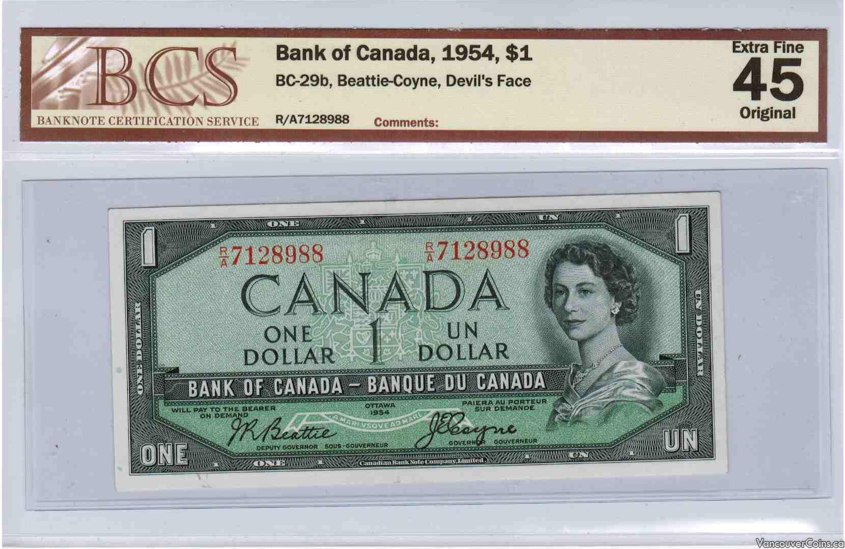 1954 $1.00 EF-45