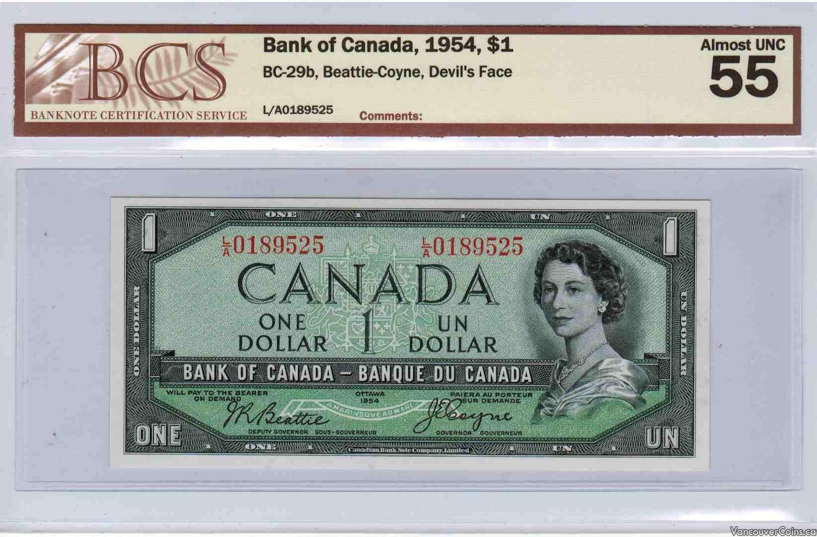 1954 $1.00 AU-55