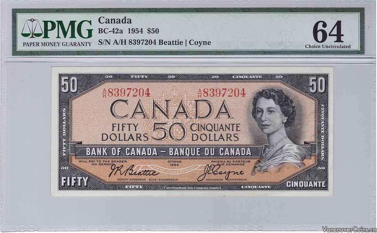 1954 Canada $50