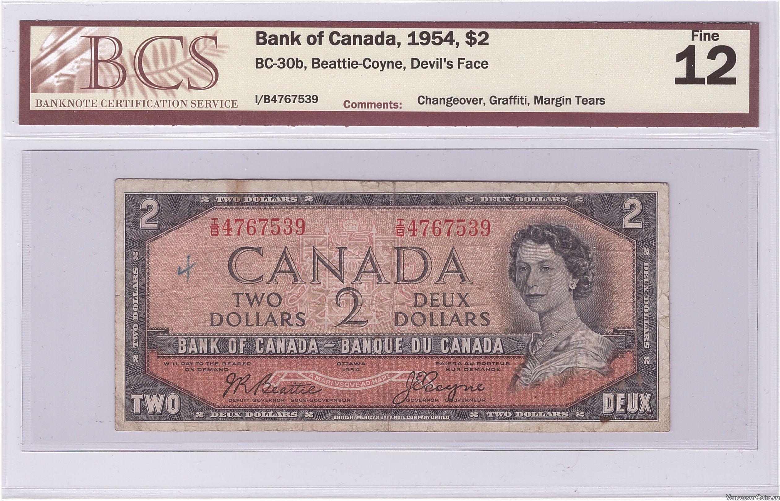 1954 $2.00 Fine-12
