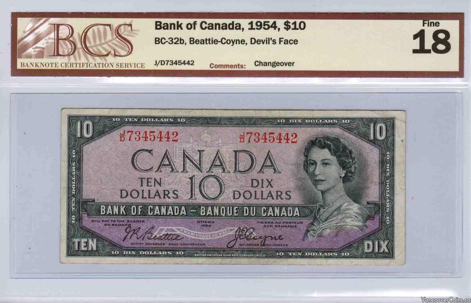 1954 $10.00 Fine-18