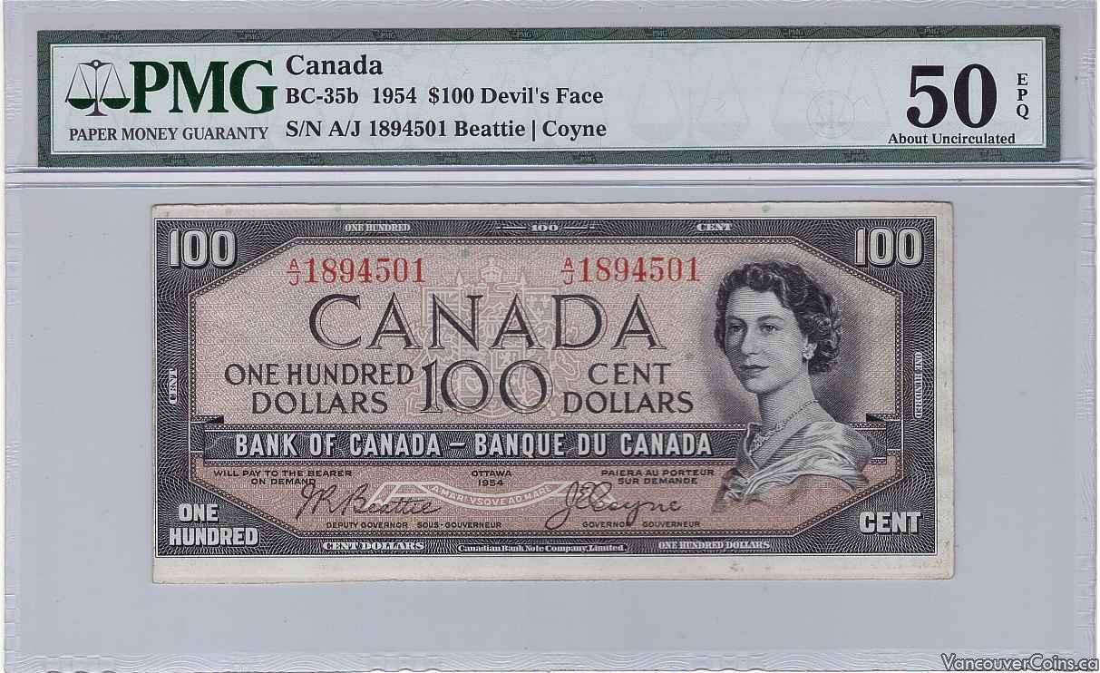 1954 Canada $100