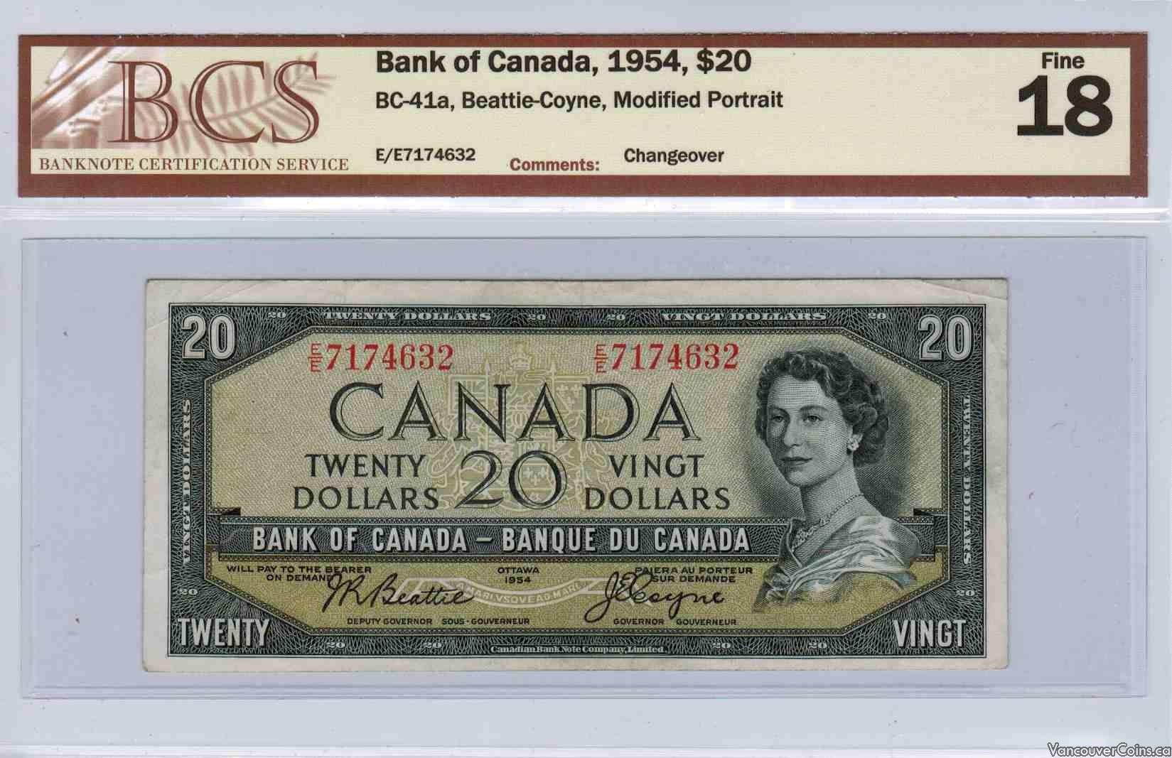 1954 $20.00 Fine-18