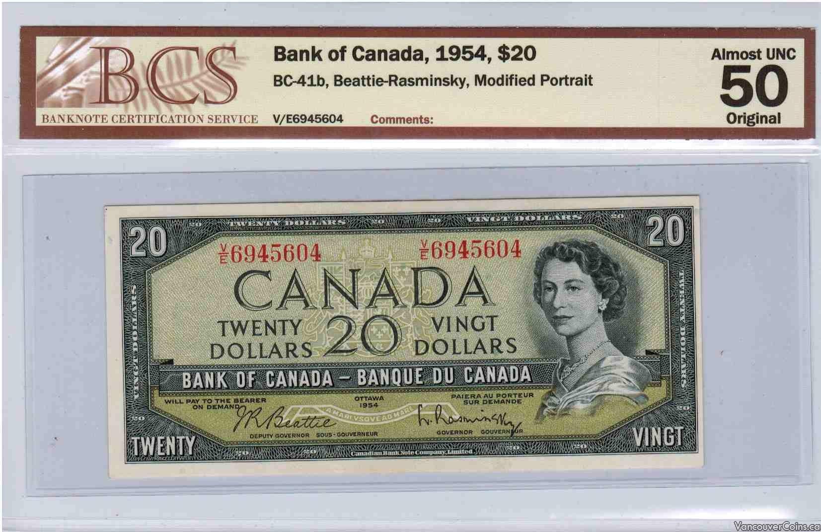 1954 $20.00 AU-50