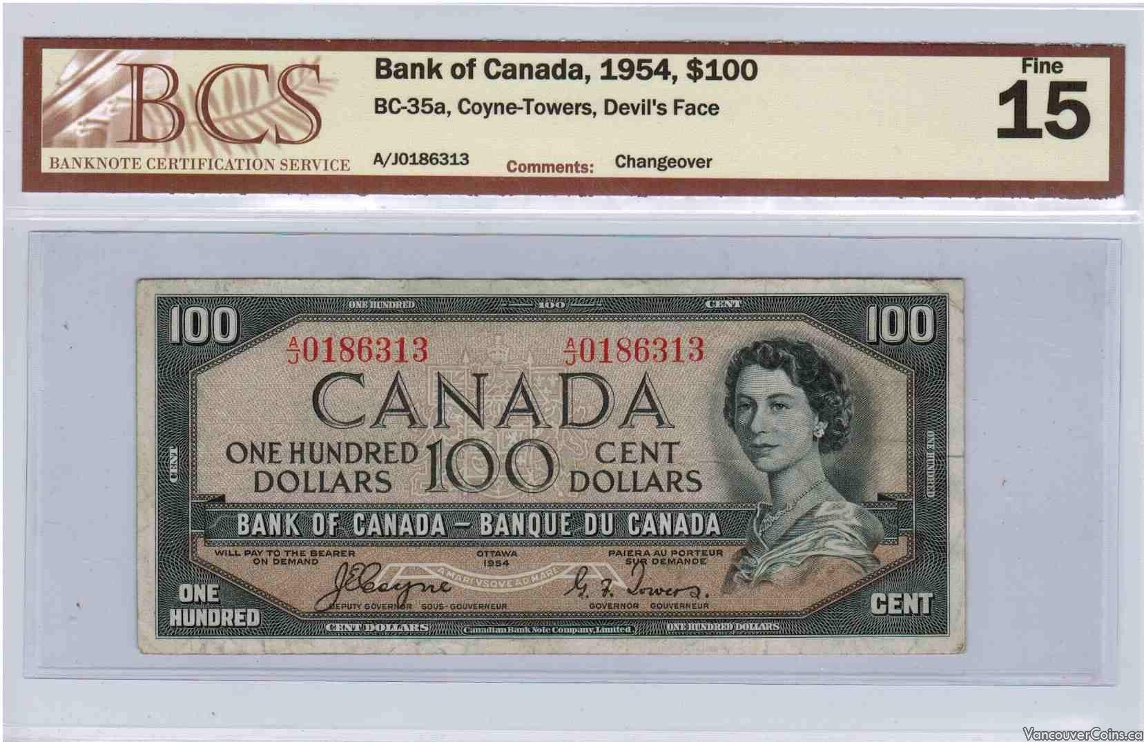 1954 $100.00 Fine-15