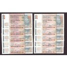 10x 1992-95 Hong Kong Standard Chartered Bank $20 notes