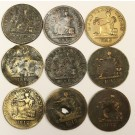 9x 1812 Tiffin tokens original